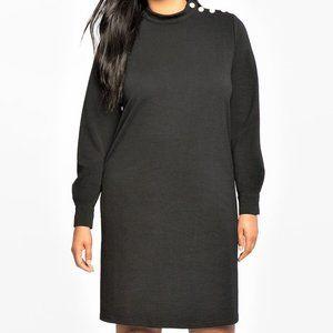 24 3X NEW Eloquii Pearl Shoulder Easy Tee Dress